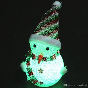 LED 밤 빛 크리스마스 장식으로는 귀여운 빛 크리스마스 크리스마스 EVA 비즈 빛 플래시 크리스마스 파티 데스크탑 장식