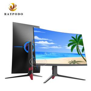 Raypodo 24 27 32 pouces incurvé 144hz moniteur de jeu d'ordinateur PC courbe avec interface DP HDMI