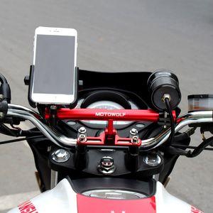 2020 Car Styling MOTOWOLF Motorcycle Modified Phone Holder Bracket Mount AL 180 Horizontal rotation Cool styling