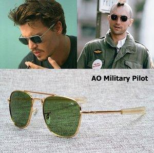 JackJad New Fashion Army MILITARY AO Pilot 54mm Sunglasses Brand American Optical Glass Lens Sun Glasses Oculos De Sol Masculino T200615