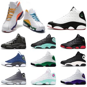 Hot Mens basketball shoes Jumpman 13 Flint 13s Island Green Bred Reverse He Got Game Men Women Sports Sneakers Size 36-47