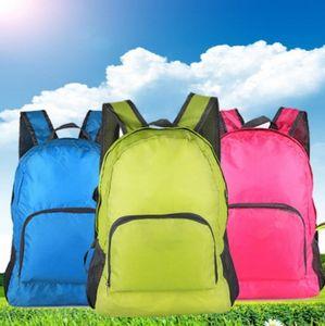 by dhl 200pcs hot Lightweight Foldable Waterproof Nylon Women Men Children Skin Pack Backpack Travel Outdoor Sports Bag Rucksack