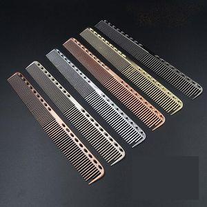 Aluminium Metall Schneidkamm - Friseur Friseure Salon Kämme Männer Frauen Professionelle Haarbürste Gold Balck Silber