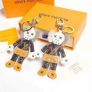 Dernières concepteur de porte-clés de la marque conçoit des figurines en cuir de haute qualité porte-clés de l'emballage de boîte de marque les amateurs de luxe