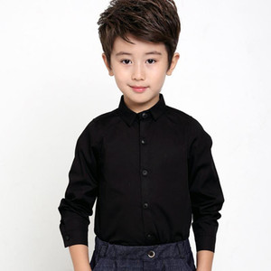 Kids long-sleeved solid shirt children's clothing cotton spring and autumn wild children's bottoming shirt baby boy clothes