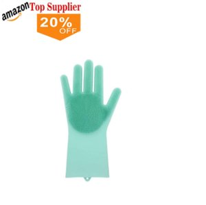 best sellers High quality 100% BPA free Magic Silicone Dishwashing Gloves Scrubber Gloves Heat Resistant