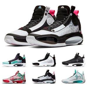 Air Retro Jordan 34 chegada Mens tênis de basquete XXXIV Paris CNY azuis Vazio Bred Tamanho Wrapping Paper Neve Trainers leopardo Sports Sneaker 7-12