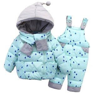 OLEKID 2019 Bébés garçons hiver Habineige Enfants Down Jacket Costume Salopette neige 1-4 ans Enfants Filles Manteau Vêtements Set CJ191202 Costume infantile