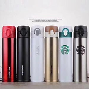 Starbucks Copa de aislamiento al vacío termos de acero inoxidable con aislamiento termo taza de café de la taza del viaje botella de bebida