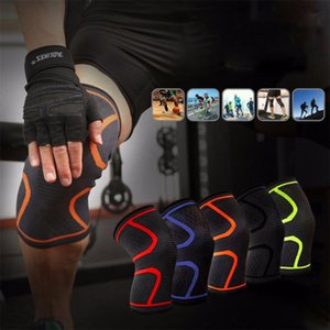 Thefound Moda Silicone Knee mangas Suporte Brace Correndo protetor luva Esporte Homens GYM Elastic Leg Patella compressão Wrap