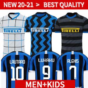 20 21 Inter de Milão camisa de futebol ERIKSEN Lukaku LAUTARO ALEXIS 2020 2021 Perisic SKRINIAR Godin camisa de futebol uniformes homens + kids kit