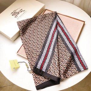 Ladies Fashion High Quality Designer Luxury Spring Real Silk Satin Scarf Muffler Sailing Printing Square Shawl With labels 180 *90 cm 657892