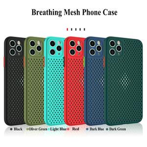 Dissipazione di calore Cover in pelle-friendly Mesh TPU telefono per l'iPhone 11 Pro Max 6 7 8 Inoltre XR X XS MAX