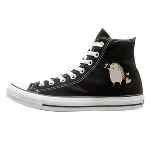 Unisex Casual Shoes Boys and Girls Sports Shoes All This Girl Cares About are Hedgehogs Funny Canvas Shoes High Top Sneakers