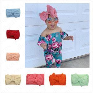 Los niños de los bebés del arco grande ancha venda elástico del pelo de la venda del turbante INS infantil recién nacido Las vendas Hairbands hairwraps Accesseries pelo D61005