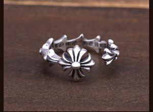 Argento sterling 925 anelli personalità tendenza gioielli in stile punk di amanti regalo hip hop semplici gioielli delle donne dal design di lusso in stile trasversale aperta