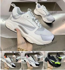 Top Donne Mens B22 dei pattini casuali delle scarpe da tennis tela e pelle di vitello formatori tecnici Knit Comfort Vestito Sneaker Sneakers Chaussures