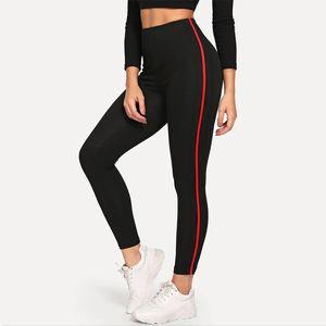 Leggings Casual Sport Leggings Fitness respirant Noir jeggings Activewear stretch Pantalon slim femme Pantalon d'entraînement
