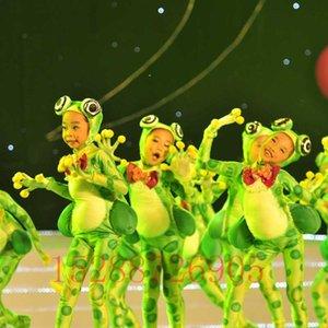 sapo amor cantando trajes infantis sessenta e um dos desenhos animados roupas desempenho feliz sapo pequeno animal roupas de dança