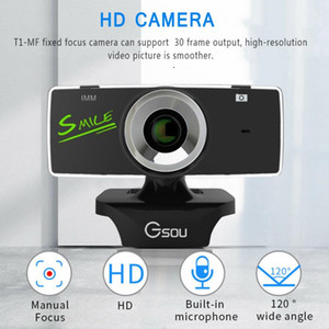 Free shipping USB 2.0 HD Webcam Camera Web Camera With Microphon For Computer PC Laptop Tab Conference Webcast