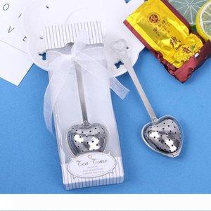 B Fedex DHL Envoi gratuit Coeur TeaTime coeur Thé Infuser une cuillère avec boîte retial pour désherber Party cadeau LX6375