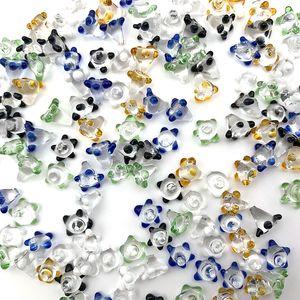 Самые дешевые стекла цветок маргаритки экран для стекла Ручной Трубы Полихроматическое Pyrex Чаша Отверстие для курения Бонг Bowl Кусок пыле Pearl Nails