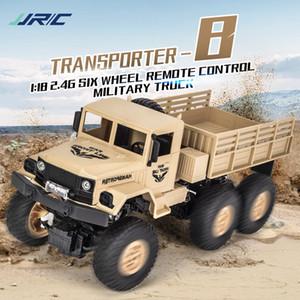 RC Araba 10km / H 6WD Ayarlanabilir hız Off-Road Askeri 01:18 RC Kamyon yük 500g Drift Uzaktan Kumanda Araba İçin Çocuk Hediye JJRC Q69