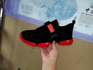 Cloudbust Sneaker Siyah Kırmızı Patchwork rahat ayakkabı erkekler Kadınlar Cloudbust Düşük Üst Mesh Düz Sneaker Döngü Kayış Stil Ayakkabı