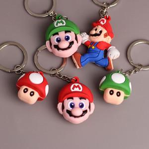 super mario bros Key Chains Cute Cartoon Key Ring PVC Anime Figure Keychain Car Key Holder Super Mariowin007