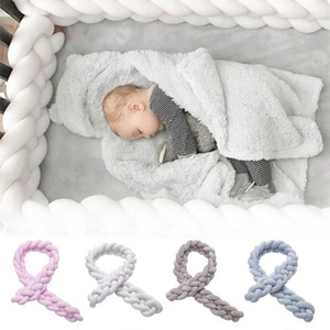Ins four-strength Danish woven long knot ball pillow Knot ball twist Braid Kids room decorative bed Bumpers Baby Home Party Gift