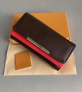 원래 상자 먼지 봉투 빨간색 바닥 도매 여성 여성 긴 지갑 걸쇠 디자이너 동전 지갑 카드 홀더 고전 pocketd