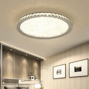Modern lâmpada do teto de cristal Luzes Home Lighting levou lâmpada Sala de estar Quarto plafonnier Rodada levou lustre luminárias Lampadari 110V-240V