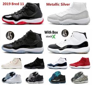 2020 basso bianco UNC Concord 11 scarpe da basket argento metallico Bred 11s prom spazio notte concorda marmellata raffreddare donne rosse grigio marmellate metà della marina palestra