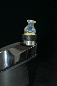 Farb 20mm Steckkappe mit Kohlenstoff in Kugelblasenglaskohlen Kappe Quarz Wasserrohr universal cap