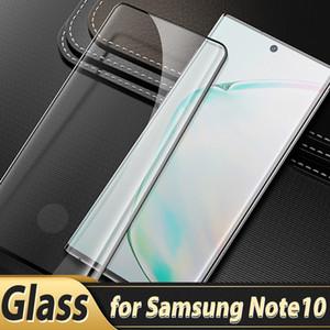 حالة ودية منحنى الزجاج المقسى لسامسونج غالاكسي S21 الترا ملاحظة 10 9 8 S10 S9 S8 زائد حامي الشاشة 3D لا كن