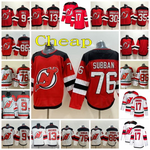 New Jersey Devils Hockey 76 PK Subban Jersey 13 Nico Hischier 30 Martin Brodeur 35 Cory Schneider 86 Jack Hughes Taylor Salão Wayne Simmonds