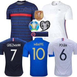 MAN + KIDS 2020 Griezmann Mbappé EURO Francia fútbol Jersey KANTE 2018 Centenario Pogba camiseta de fútbol maillot de pie 20 21 ZIDANE