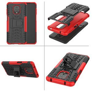 Противоударный телефон чехол для Xaiomi реого Примечания 9S двухслойного защитного чехла Гибридного Kickstand Броня для Xiaomi реого Примечание 9 Pro Max