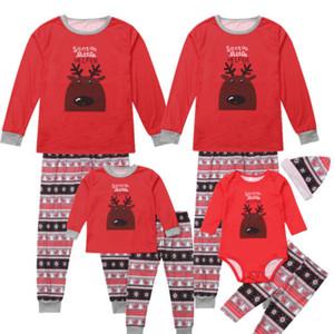 Рождественские Семейные Пижамы Набор Взрослых Детей Детские Оленьи Пижамы Пижамы Красные Семейные Рождественские Пижамы