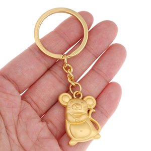 New Chunky Rat Mouse Keychain Fashion Trinket Animal Car Keyfob Bag Pendant Key Chain Personalized Keyring for Women Gift