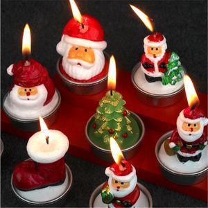 Рождественские свечи Свет Рождественские украшения Фестиваль Света Свадьба Гостиница Сцена украшения свечи лампы Санта-Клаус свечи BH2430 ZX