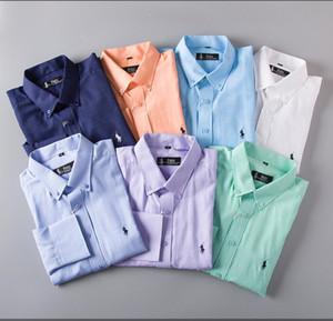 19 العلامة التجارية رجال الأعمال عارضة قميص رجل طويل الأكمام مخطط يتأهل camisa الغمد الاجتماعي الذكور القمصان جديد أزياء الرجل فحص shirt25