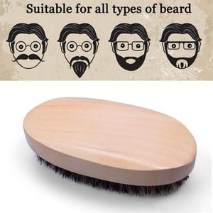 Barba Barba Bro Shaping Brush Hombre atractivo caballero Barba Plantilla de recorte y estética de afeitar peine Herramienta de jabalí Cerdas envío libre