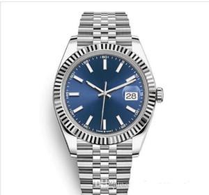 Vente chaude luxe Bicolore date solide en acier inoxydable Bracelet saphir cadran noir 41mm BRW Datejust Montre-bracelet 126333 Hommes Montres sport