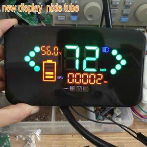 Digitalanzeige 24V-96V für Elektroroller Motorrad Gerät Tacho Batterieanzeige Spannung displaygauge Dreirad Tretroller