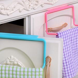 Kitchen Organizer Towel Rack Hanging Holder Bathroom Cabinet Cupboard Door Back Hanger Kitchen Supplies Accessories Cocina