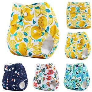 Pano fraldas calças reutilizáveis ajustável fralda lavável Fraldas infantil Kid Formação reutilizável fralda do bebê bolso fralda de pano