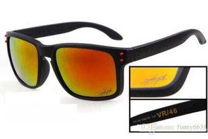 Fábrica Venda quente marca Homens polarizados Dupla Cor Ciclismo Espelhos Esportes Ao Ar Livre óculos de Sol VR46 VRG 9COLOR frete grátis