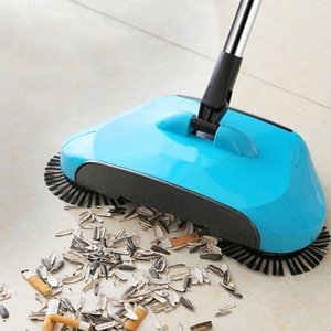 Stainless Steel Hand Push Sweepers Sweeping Machine Push Type Hand Push Magic Broom Sweepers Dustpan Household Cleaning Tools T200628