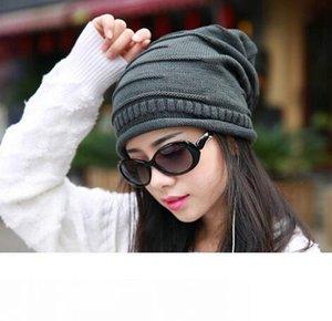 10 PC-Los-Winter-Frauen Damen Unisex Winter stricken Plicate Slouch Mütze Hut gestrickten Schädel Beanies beiläufige Ski 7 Farben
